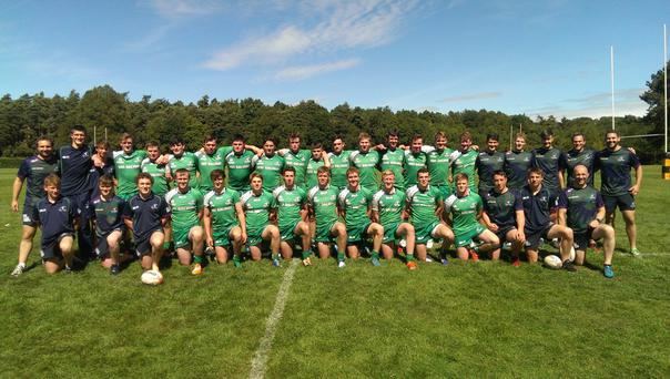 The Connacht U18 squads who enjoyed a successful stint in the UK