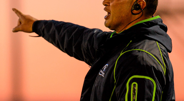 Connacht head coach Pat Lam calling the shots from the sidelines against Zebre
