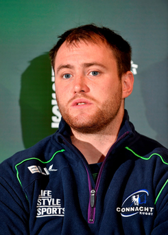 Connacht's Eoin McKeon during a press conference