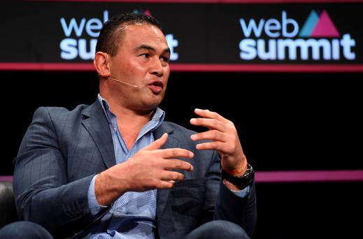 Pat Lam speaking at the Web Summit in Dublin this week – 'I was asked to speak about the role of real-time analytics in sport which is an important part of our game'the