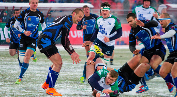 Connacht's Peter Robb in action during their European Rugby Challenge Cup clash against Enisei-STM