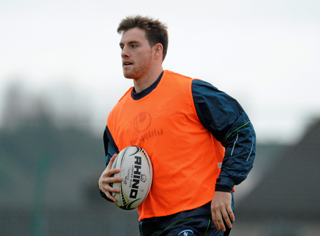 Jake Heenan in training with Connacht