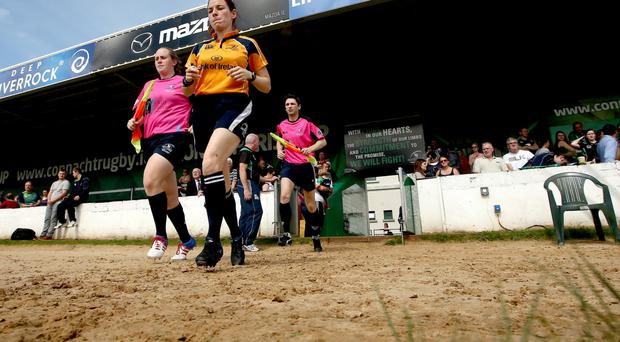 Connacht Branch officials in action at the Sportsground