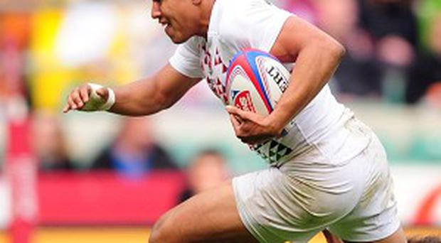 England sevens star Marcus Watson ran in four tries for the Falcons