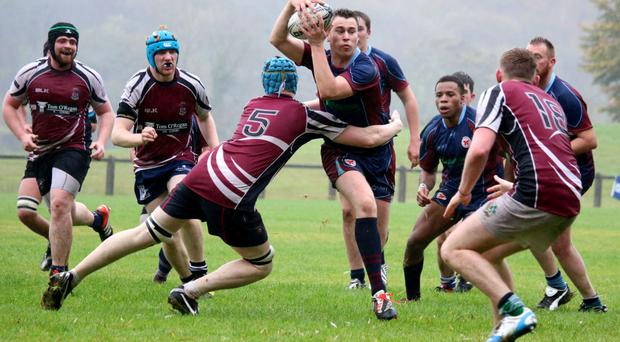 Action from the NUIG v GMIT 'Colours' match