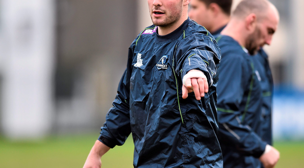 Robbie Henshaw in training at the Sportsground. Photo: David Maher/Sportsfile