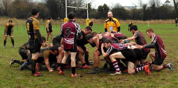 Action from Buccaneers v NUIG in the Connacht Junior Cup
