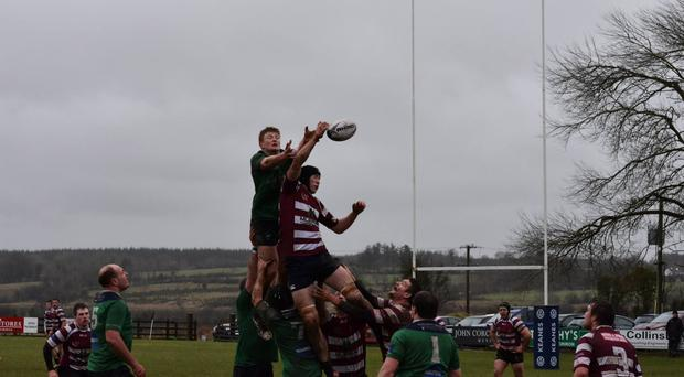 Connacht Junior Cup action from Ballina versus Creggs