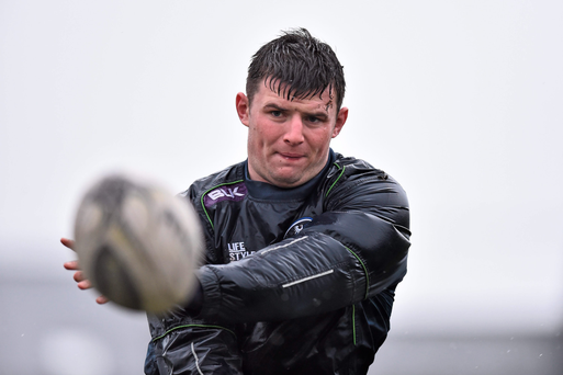 Eoghan Masterson in action during Connacht training. Photo: Sportsfile