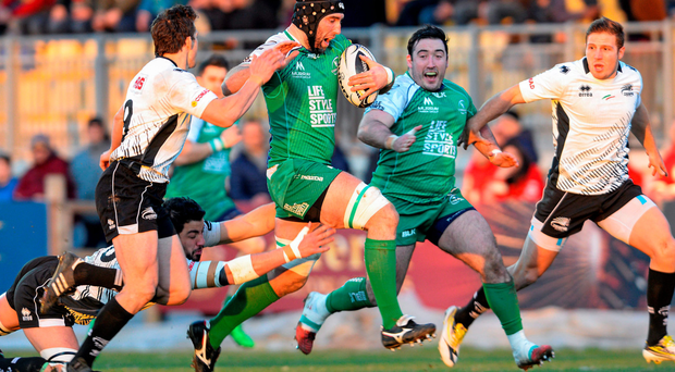 John Muldoon takes the attack to Zebre (SPORTSFILE)