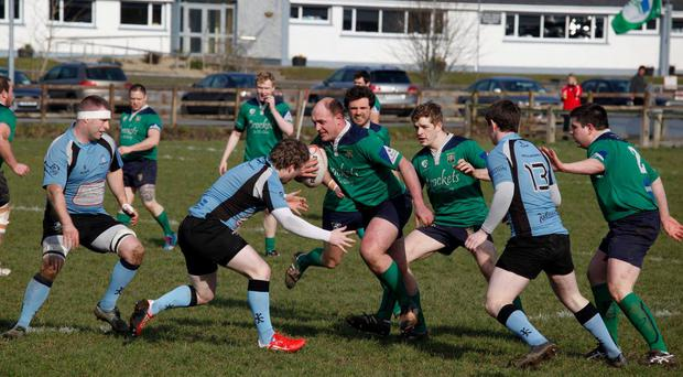 Action from Ballina's Junior Cup victory over Galwegians