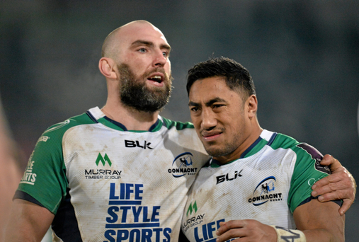 Connacht will look to captain John Muldoon and Bundee Aki to provide the inspiration against Edinburgh tonight. Photo: Sportsfile