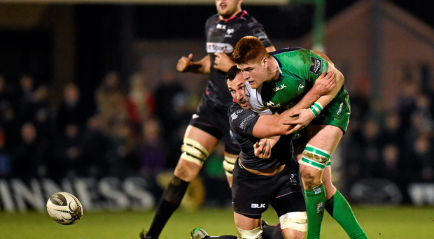 After John Muldoon dropped out at the last minute against Ospreys, Sean O'Brien really stepped up and put in a great performance. Photo: Sportsfile
