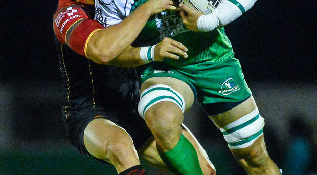 Connacht's Ben Marshall in action against Newport Gwent Dragons earlier this season. Photo: Sportsfile