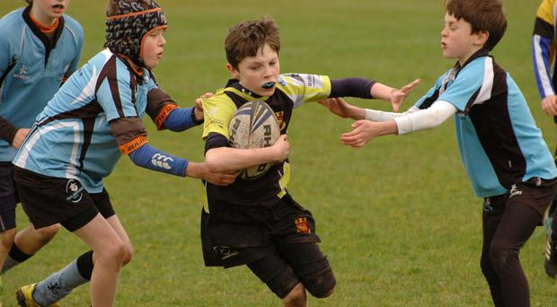 Action from the U-11 Connacht blitz