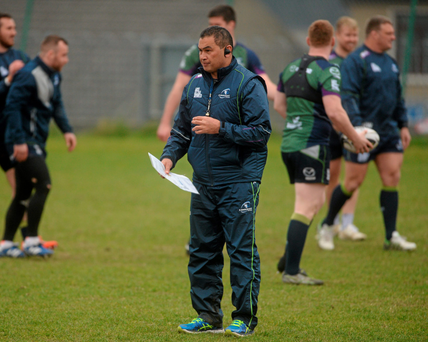 Pat Lam puts his players through their paces ahead of their game against Leinster (SPORTSFILE)