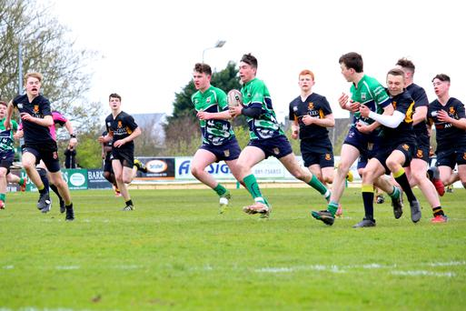 Action from U-16 cup final
