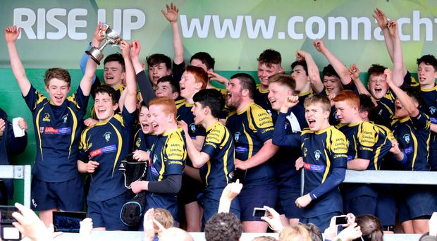 Ballinasloe celebrate their U-15 Cup success