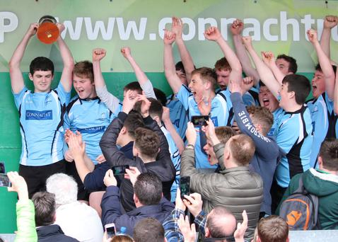 Galwegians celebrate their U-17 Cup triumph