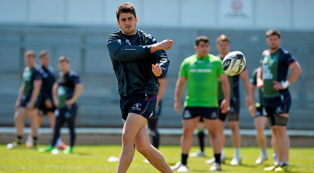Tiernan O'Halloran in action during training ahead of the final round of Pro 12 games tomorrow (SPORTSFILE)
