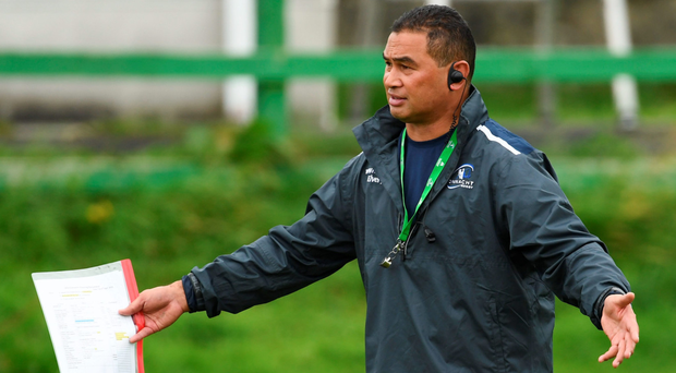 Pat Lam issues instructions to his team during training this week. SPORTSFILE