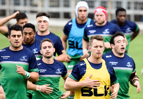 Connacht players, here training at the Sportsground, will be aiming for a first win of the campaign against Scarlets