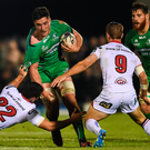 Tiernan O'Halloran says that when James Connolly (pictured with the ball) scored the third try against Ulster it felt as if Connacht were back to winning ways. Picture: Sportsfile