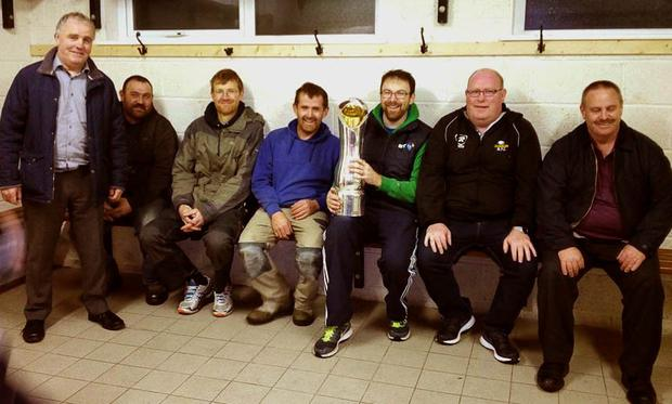 Dunmore members with the Pro12 trophy