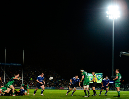 A general view of the action during the Guinness PRO12 Round 7 match between Leinster and Connacht at the RDS Arena, Ballsbridge, in Dublin. Photo by Seb Daly/Sportsfile