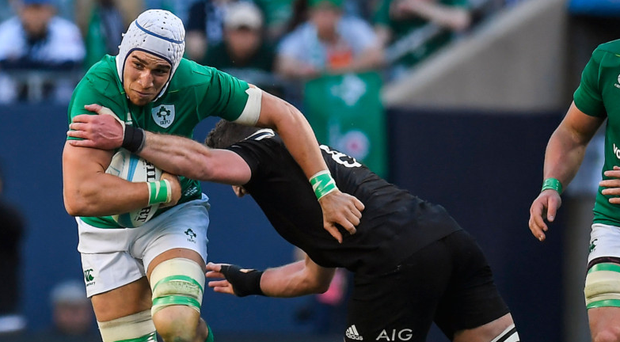 Ultan Dillane in action against the All Blacks
