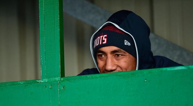 Without both Bundee Aki, pictured watching training, and John Muldoon, Connacht need players to step up as leaders. SPORTSFILE