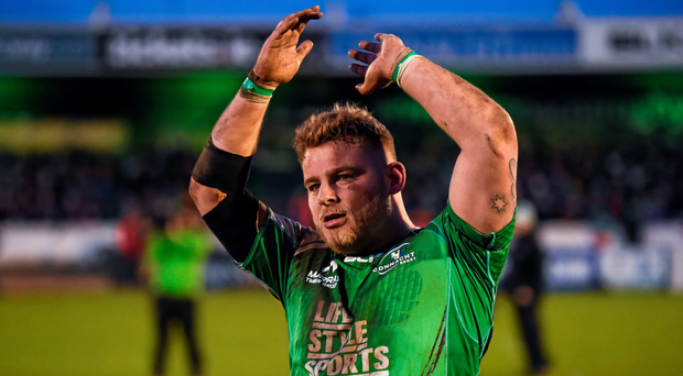 Everyone in Connacht is delighted to see Finlay Bealham (pictured) Tiernan O'Halloran, Kieran Marmion and Ultan Dillane are part of Ireland's Six Nations squad Picture: Sportsfile