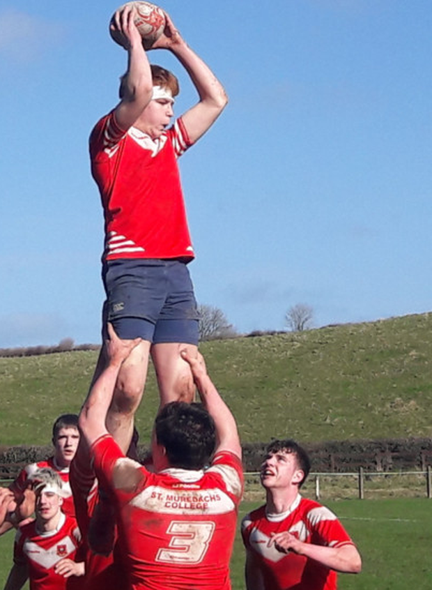 Conor Boyce claims the ball in a lineout