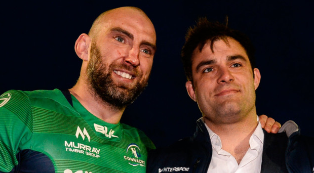 John Muldoon and Ronan Loughney. Photo: Sportsfile