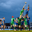 Pat Lam will be hoping that Sean Cronin, pictured here contesting a lineout against Scarlets, scales the heights again tomorrow. Picture: Sportsfile