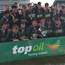 Calasanctius College junior team celebrating after their Development Cup triumph in March