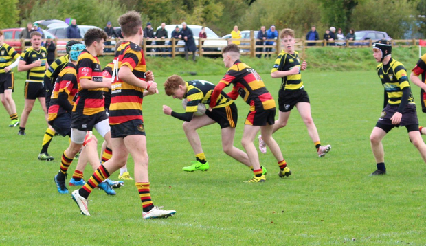 The Carrick-on-Shannon U-17s on the attack against Sligo.