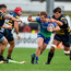 Kieran Marmion is tackled by Worcester's Donncha O'Callaghan back in October – Connacht won 15-8 and will be hoping to repeat the dose at Sixways tomorrow. Photo: Sportsfile
