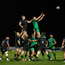 James Cannon beating Ospreys' Rob McCusker in a lineout. Photo: Sportsfile
