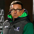 Connacht head coach Kieran Keane Photo: Sportsfile