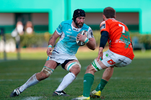 John Muldoon in action against Benetton Treviso. Picture: Sportsfile