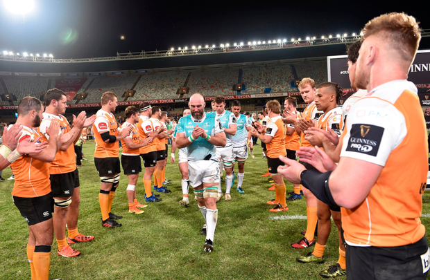John Muldoon leaves the field following defeat to the Toyota Cheetahs. Picture: Sportsfile