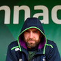 Johh Muldoon enjoys a quiet moment of reflection at the Sportsground. Photo: Sportsfile