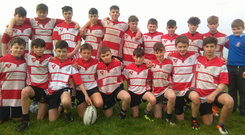 CBS Roscommon's U-14 team line out