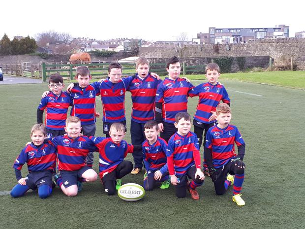 Tuam RFC's U-10 side before playing in the Sportsground