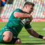Tom Farrell goes over to score his side's first try against the Toyota Cheetahs. Picture: Sportsfile