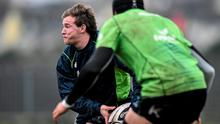 Kieran Marmion in action during squad training this week
