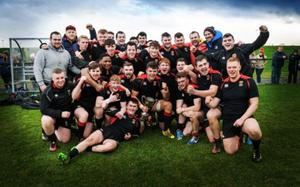 Victorious IT Carlow celebrate with the Cup