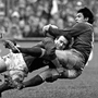 Willie Duggan tackles Wales' Mark Douglas. Photo: Sportsfile