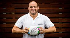 Rory Best at the launch of the Union Cup, which takes place in Dublin this weekend. Photo: �INPHO/Laszlo Geczo